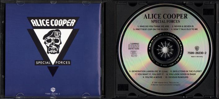 Alice Cooper 1981 SPECIAL FORCES