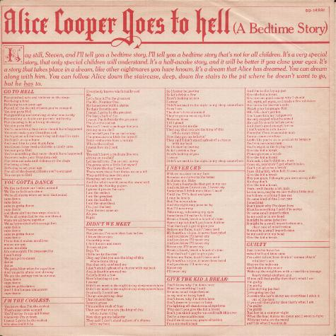 Alice Cooper :: Hell Is Living Without You Lyrics